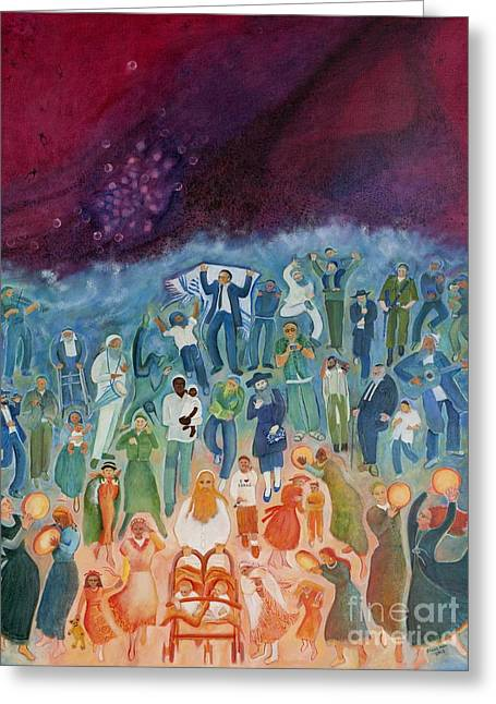 Passover Not Only Our Fathers Greeting Card by Chana Helen Rosenberg