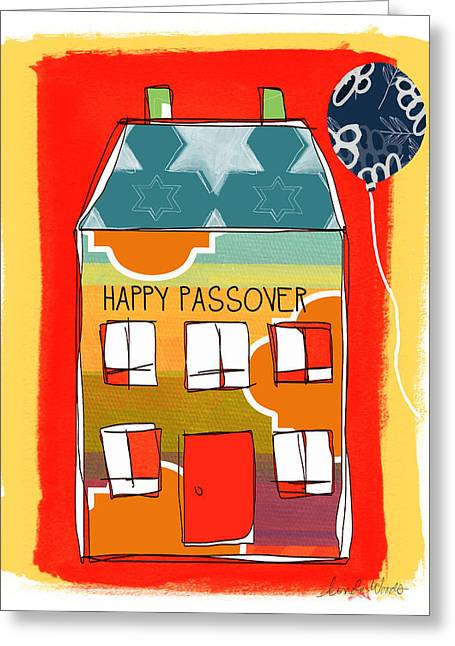 Passover House Greeting Card by Linda Woods