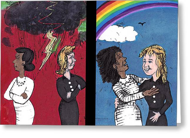Past Hatred And Present Love Greeting Card by Lee Serenethos