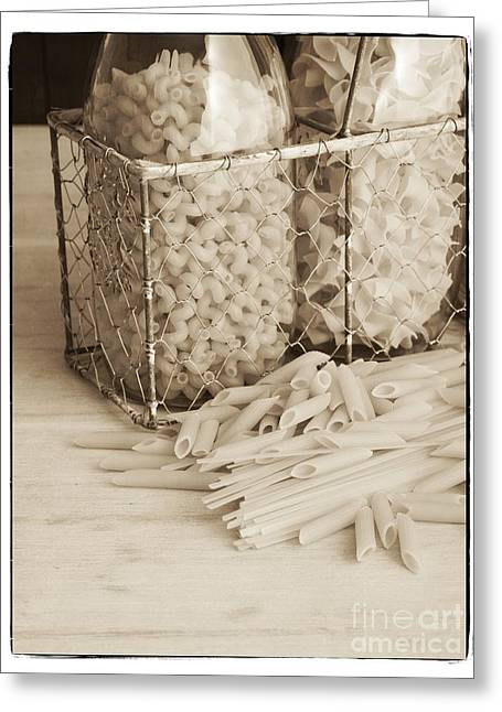 Pasta Sepia Toned Greeting Card