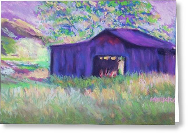 Pastel Barn II Greeting Card by Shirley Moravec