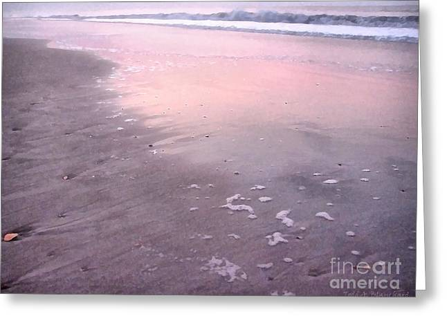 Pastel Beach Greeting Card