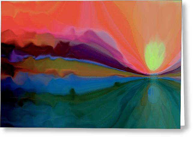 Pastel Dusk Greeting Card by Terence Morrissey