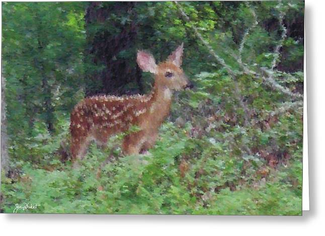 Pastel Fawn 1 Greeting Card