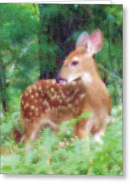 Pastel Fawn 2 Greeting Card