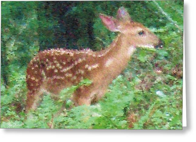 Pastel Fawn 3 Greeting Card