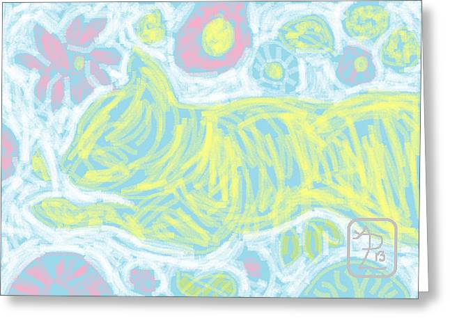Pastel Floral Gini Greeting Card by Anita Dale Livaditis