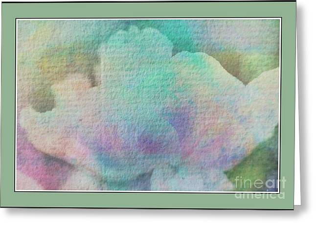Pastel Flowers Greeting Card by Kathleen Struckle