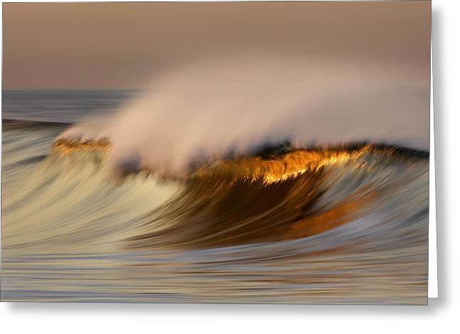 Pastel Gold Wave  Mg9082 Greeting Card
