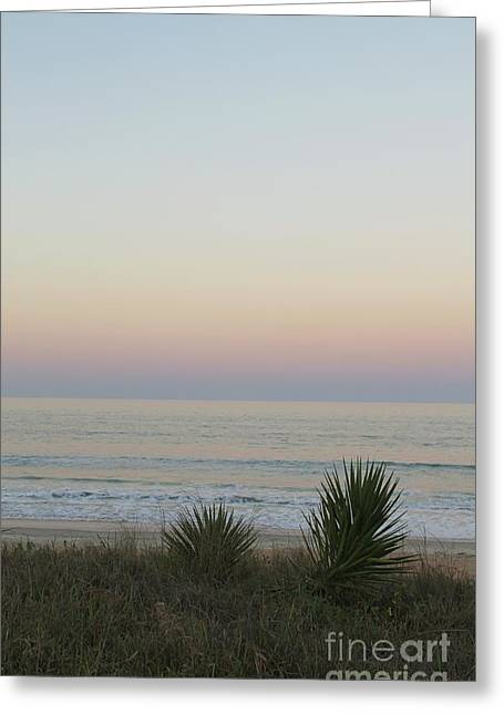 Pastel Moonrise II Greeting Card
