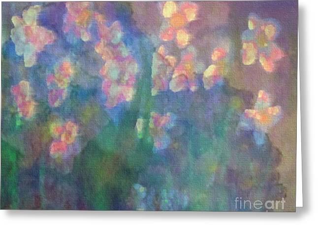 Pastel Petals Greeting Card by Holly Martinson