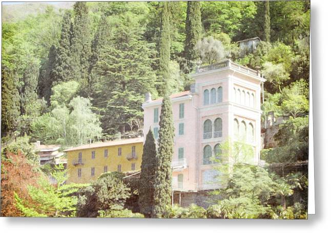 Pastel Pink And Yellow Italian Villa Greeting Card