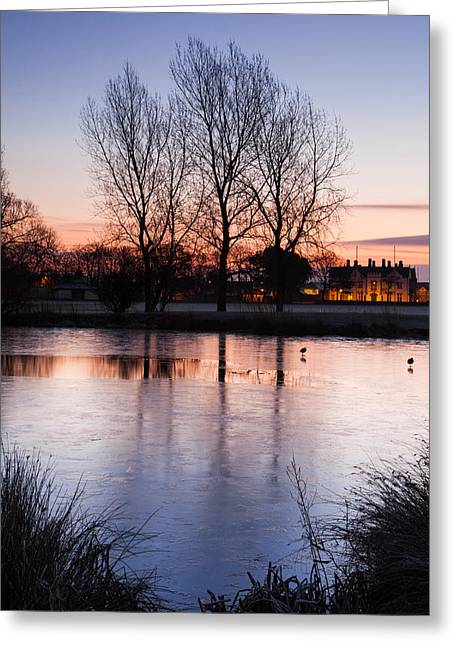Pastel Reflections Greeting Card by Christine Smart