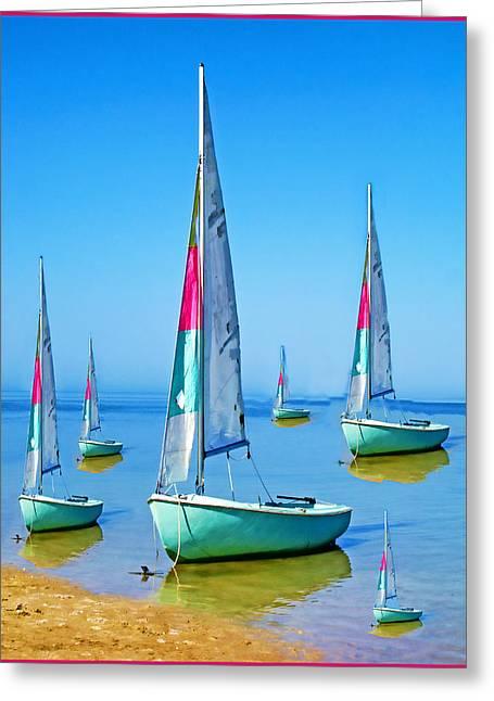 Pastel Sailboats Greeting Card