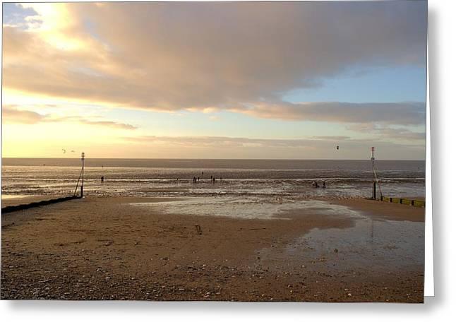 Pastel Skies Greeting Card by Dave Woodbridge