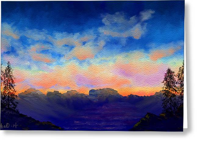 Pastel Sky Greeting Card by Kerry Mitchell