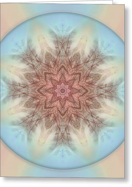 Pastel Sky Mandala Greeting Card