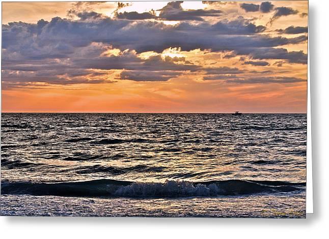 Pastel Sunset 1 Greeting Card by Lisa Merman Bender