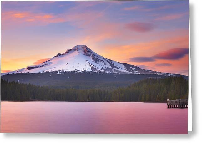 Pastel Sunset Greeting Card by Darren  White