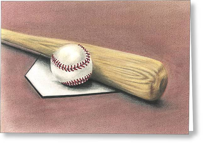 Pastime Greeting Card by Troy Levesque