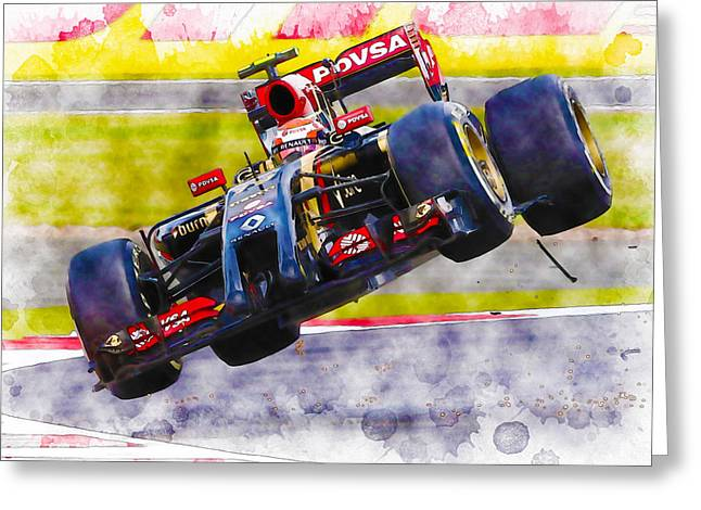 Pastor Maldonado Greeting Card