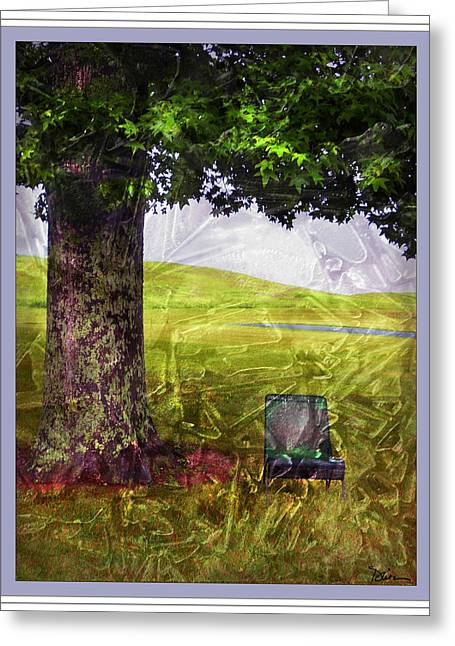 Pastoral Abstract Greeting Card by Peggy Dietz
