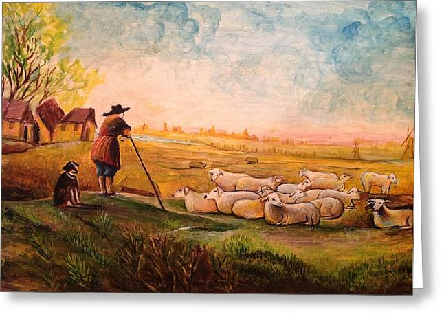Pastoral Landscape Greeting Card by Egidio Graziani