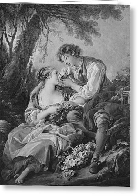 Pastoral Scene Greeting Card by Francois Boucher