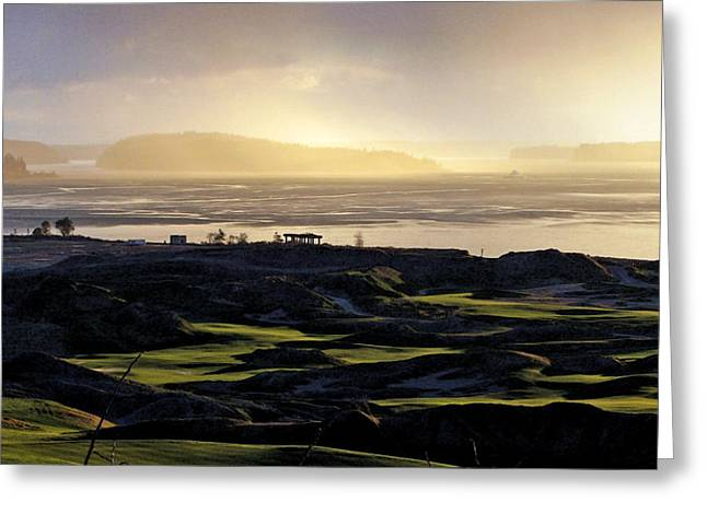 Greeting Card featuring the photograph Pastoral Symphony - Chambers Bay Golf Course by Chris Anderson