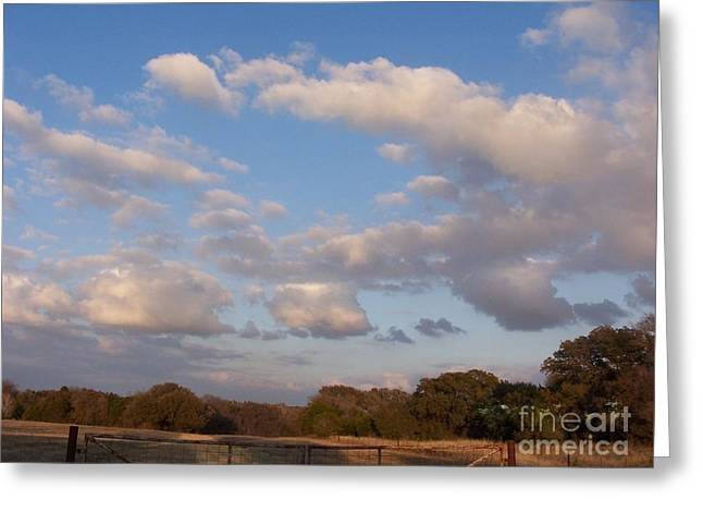 Pasture Clouds Greeting Card