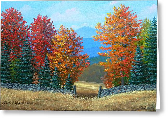 Pasture Gate In Autumn Greeting Card