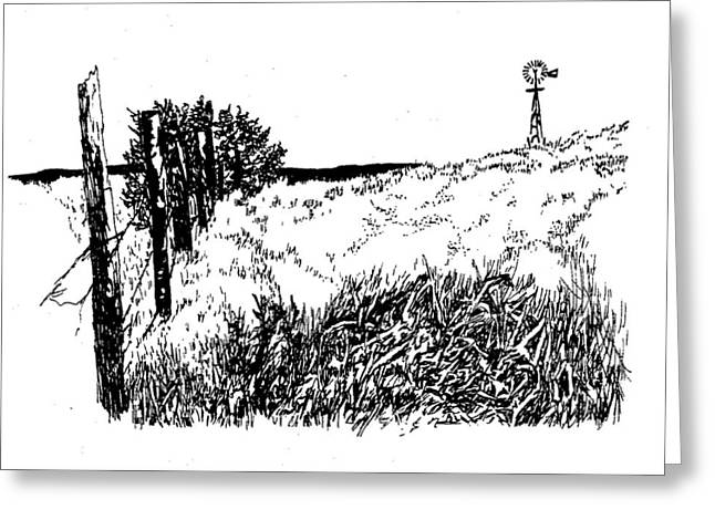 Pasture  Greeting Card by Jean Ann Curry Hess