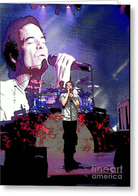 Pat Monahan Of Train Greeting Card by Cindy Manero