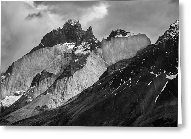 Patagonian Mountains Greeting Card