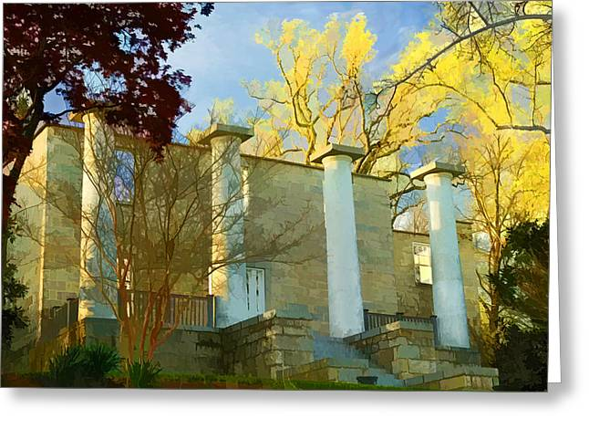 Greeting Card featuring the photograph Patapsco Female Institute by Dana Sohr