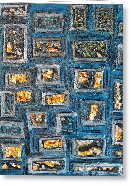 Patchwork Greeting Card by Agnes Roman