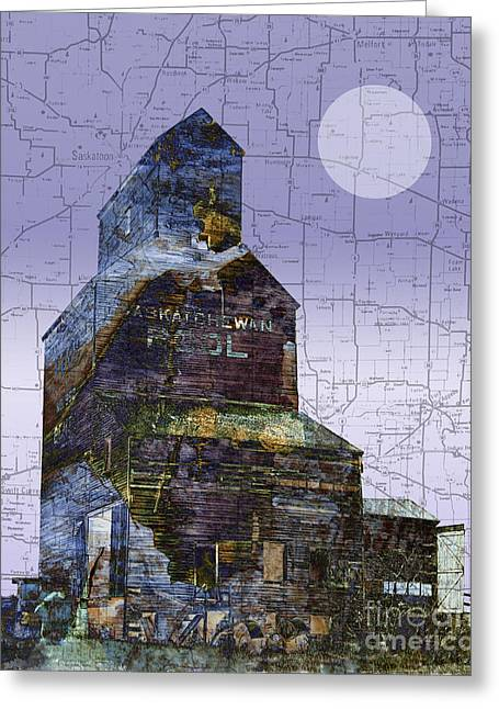 Patchwork Elevator Greeting Card by Judy Wood