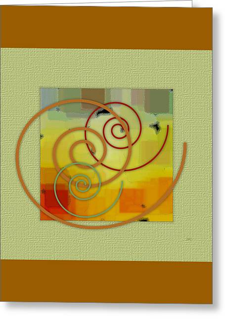 Patchwork I Greeting Card by Ben and Raisa Gertsberg