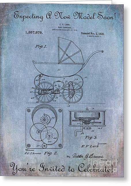 Patent Art Lark New Model Invite Greeting Card