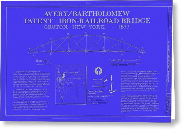 Patent Iron Railroad Bridge Greeting Card by Mountain Dreams