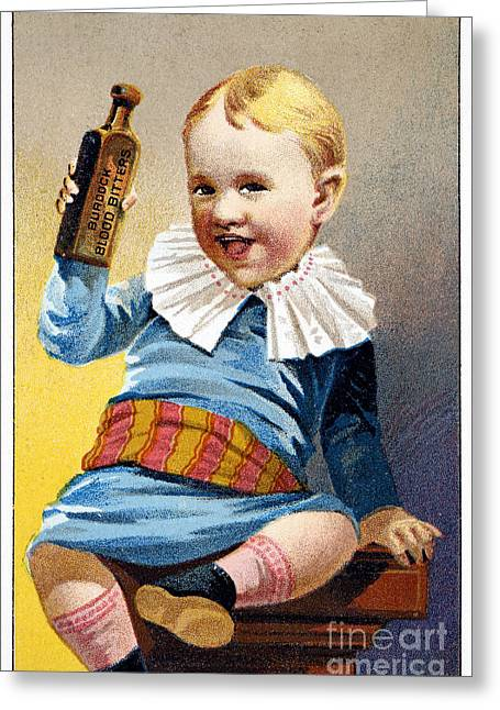 Patent Medicine, 19th C Greeting Card by Granger