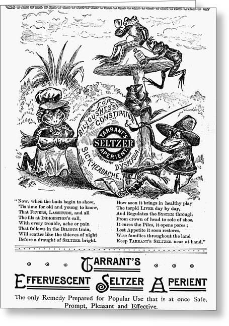 Patent Medicine Ad, 1887 Greeting Card