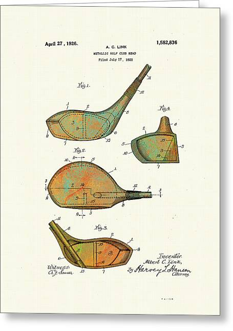 Patented Golf Club Heads 1926 Greeting Card