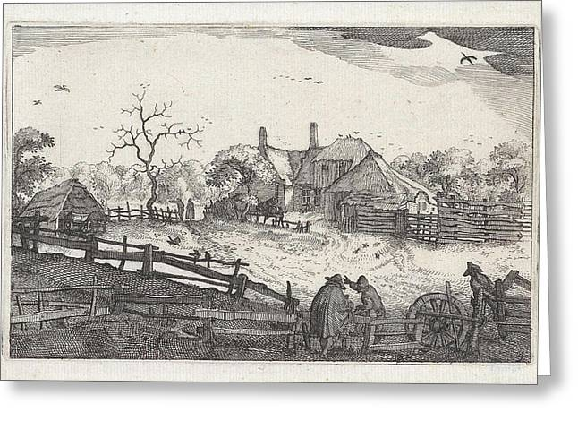 Paters Inn Near A Country Road, View Near Haarlem Greeting Card by Artokoloro