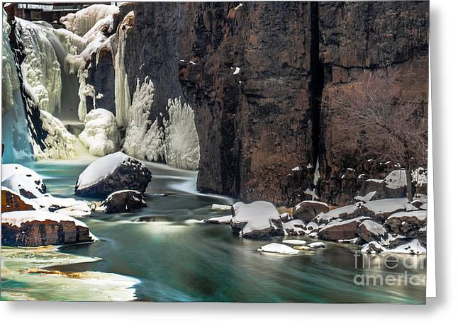 Paterson Falls Frozen Fantasy Greeting Card