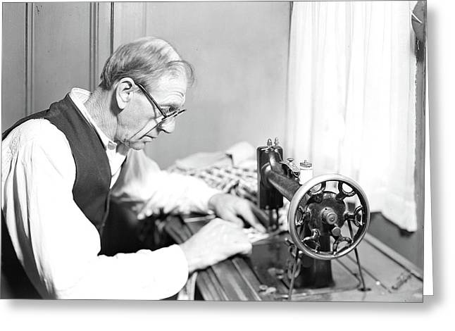 Paterson, New Jersey - Textiles. An Old Silk-worker Now Greeting Card