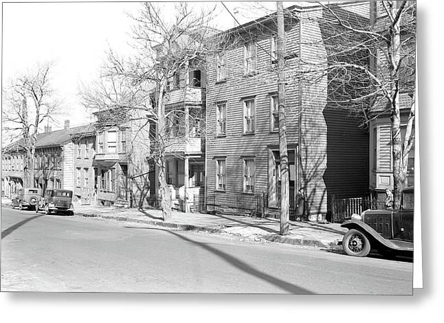 Paterson, New Jersey - Textiles. Homes Of Owners Of Two Greeting Card by Litz Collection