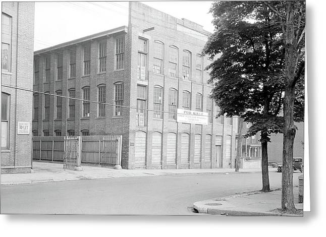 Paterson, New Jersey - Textiles. Unoccupied Mill Buildings Greeting Card