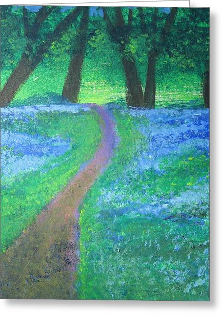 Path In Woods Greeting Card by Diana Riukas