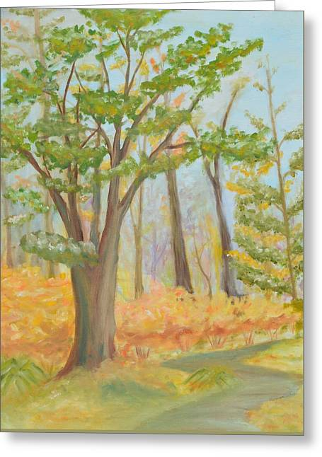Path Of Trees Greeting Card